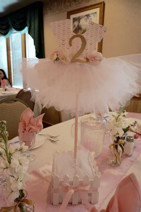 Ballerina Baby Shower Centerpiece Pinteres