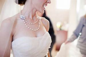 love the pearl necklace and the wedding dress wedding With pearl necklace with wedding dress