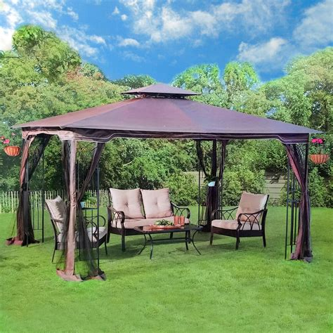 backyard gazebo gazebo 10 x 12 regency ii patio canopy with mosquito