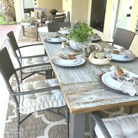 diy outdoor farmhouse tables seeking lavendar lane