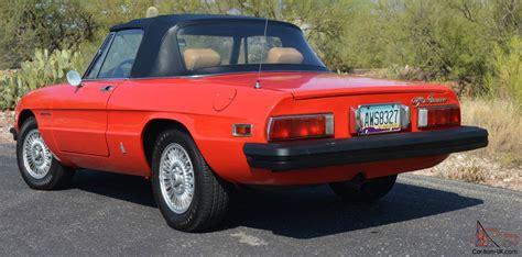 1978 Alfa Romeo Spider by 1978 Alfa Romeo Spider Veloce Convertible 2 Door 2 0l