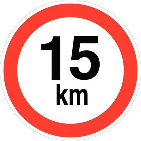 adresse bureau pictogramme de signalisation vitesse limitée à 15 km h