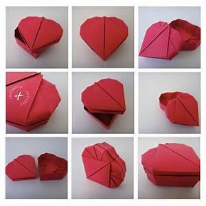 Comment Faire Une Boite En Origami : tuto origami boite coeur ~ Dallasstarsshop.com Idées de Décoration