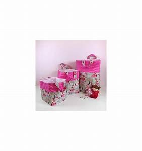 Grand Coffre De Rangement : grand coffre jouets rose sac enfant personnalis chouette rose cr aflo ~ Teatrodelosmanantiales.com Idées de Décoration