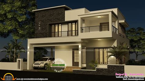 modern 4 bedroom house 4 bedroom modern house with plan kerala home design and 435 | house elevation