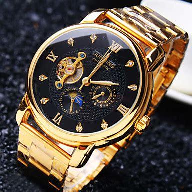 uhren herren gold herren modeuhr armbanduhr mechanische uhr automatikaufzug wasserdicht transparentes ziffernblatt