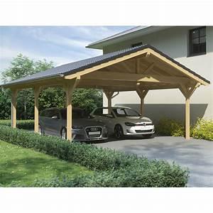 Carport 3 X 4 : carport satteldach leimholz holz 6x7 m 600x700 cm steda ebay ~ Whattoseeinmadrid.com Haus und Dekorationen