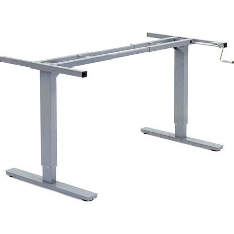 Manual Crank Standing Desk by Manual Adjustable Height Desk Frame Rocky Mountain Desks