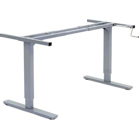 motorized standing desk canada manual adjustable height desk frame rocky mountain desks
