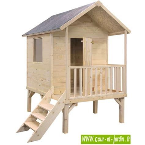 maisonnette en bois sur pilotis cabane de jardin enfants en bois sur pilotis