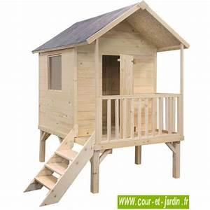 Cabane De Jardin Enfant : maisonnette en bois sur pilotis cabane de jardin enfants ~ Farleysfitness.com Idées de Décoration