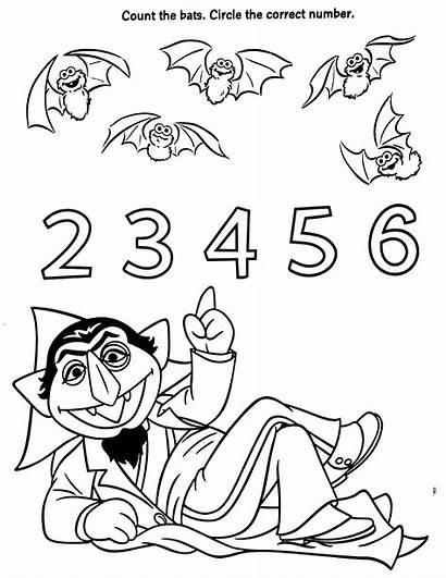 Sesame Coloring Count Street Pages Elmo Bats