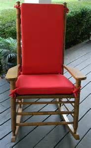 red outdoor rocker rocking chair 2 pc cushion pad fits