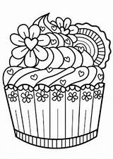 Dessert Cupcake Blank Coloring Notebook Diary Zentangle Cupcakes Sheets Journal Lined Gray Sweets Colouring Easy Doodle Painting Tulamama April Fabric sketch template