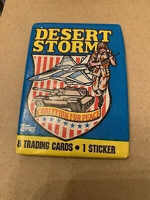 Aug 18, 2021 · rising storm #2 sideswipe's group arrived in philadelphia just in time to rescue sam from being killed by starscream's hand. Unopened Topps Desert Storm Coalition For Peace Trading Cards 41116004599 | eBay