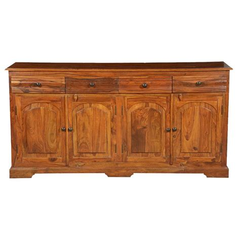 Unfinished Wood Sideboard by Early American Solid Wood 4 Drawer Sideboard