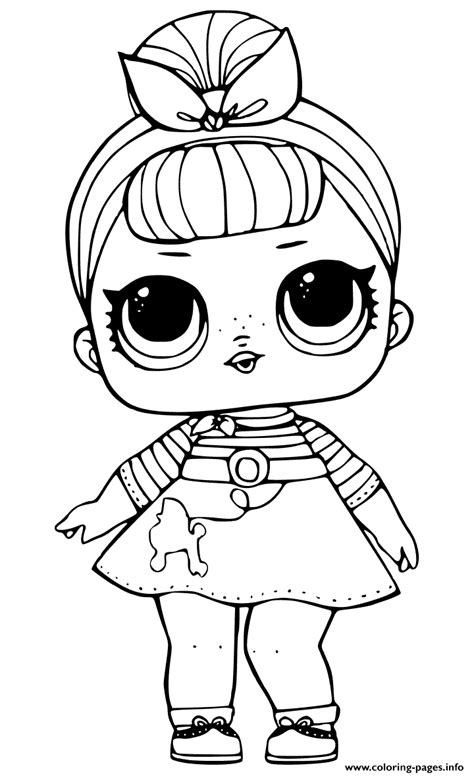 sis swing doll  lol surprise coloring pages printable