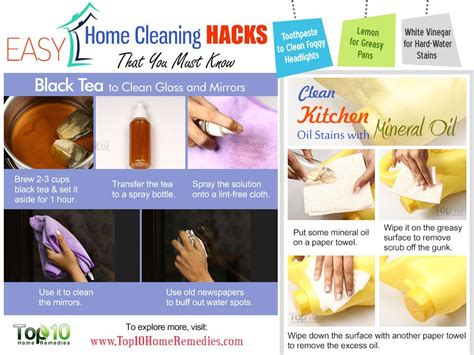 easy home cleaning hacks     top