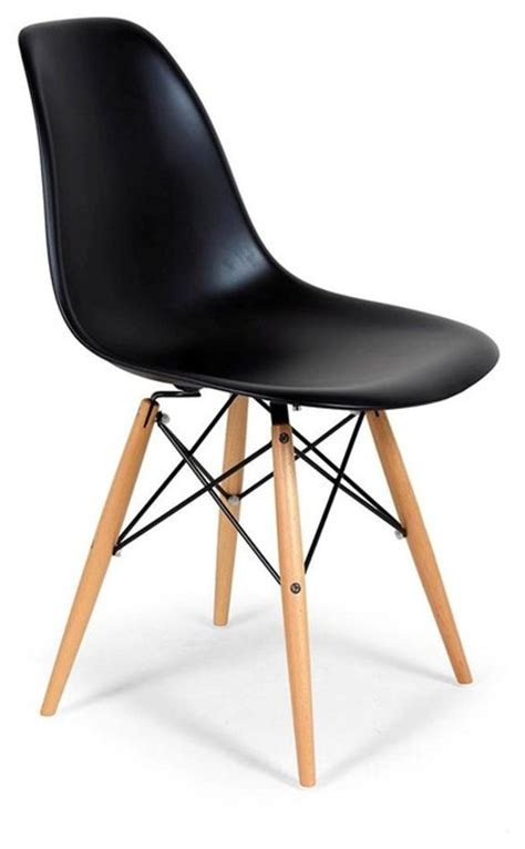dsw dining chair set of 2 chairs black wood base