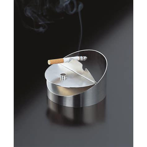 mülleimer mit aschenbecher auerhahn 24 3012 0653 a design aschenbecher in geschenkverpackung edelstahl de k 252 che