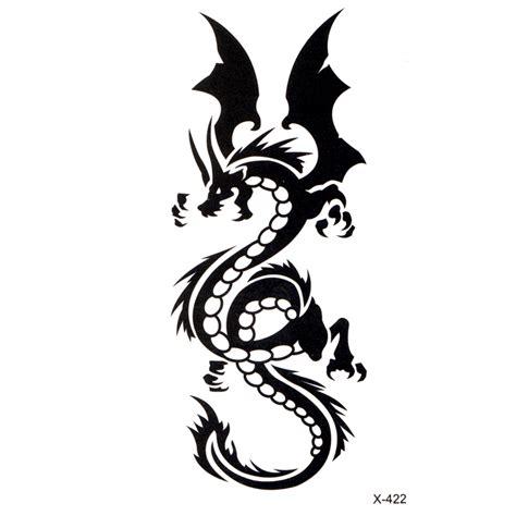 tatouage temporaire dragon chinois