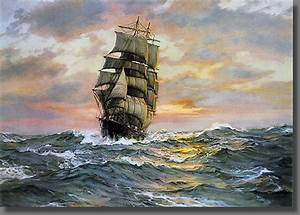 Famous Sailing Ship Paintings | The clipper ship Blue ...