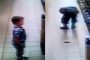 video shows a child taking a covert poo in the middle of a With kid poops on floor