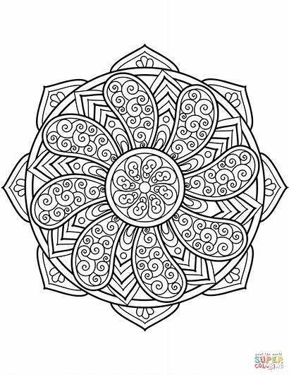 Mandala Coloring Pages Difficult Printable Halloween Sheets