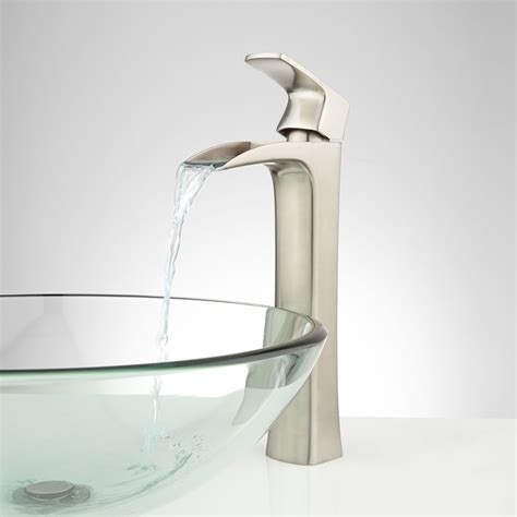 faucet for sink in bathroom quintero waterfall vessel faucet bathroom
