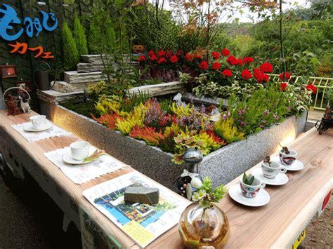 cargo beds  flower beds japanese pop  gardens