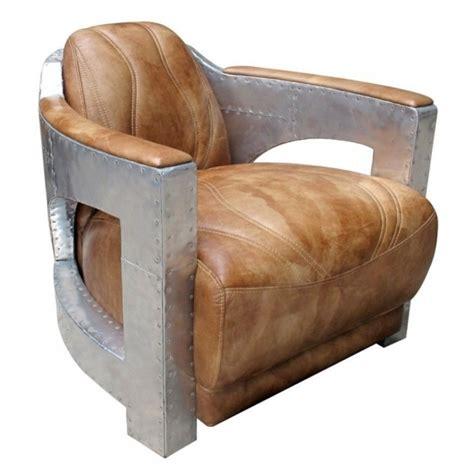top grain leather club chair light brown aviator