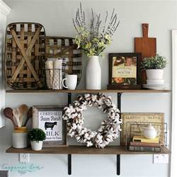 Wall Shelf Bookcase by Decorating Shelves In A Farmhouse Kitchen
