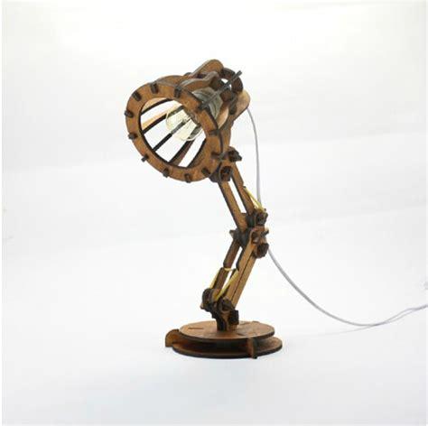 diy pixar wooden desk lamp long arm scaling study office