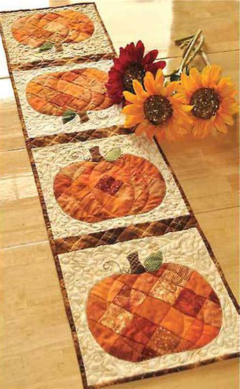 fall table runners to make quilted table runner patterns for fall images