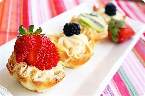 fresh fruit phyllo tartlettes
