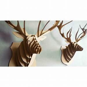 Tete De Cerf En Carton : troph e t te de cerf en carton brun xl 55x61x32 animatomy lightbox creavea ~ Teatrodelosmanantiales.com Idées de Décoration
