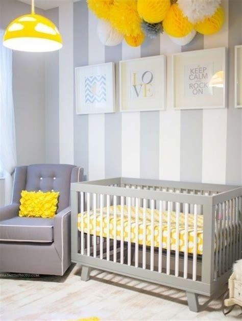 chambre en gris et blanc la peinture chambre bébé 70 idées sympas
