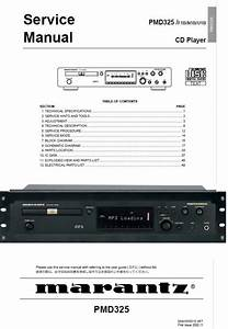 Marantz Pmd325 Cd Player Service Manual And Repair Guide