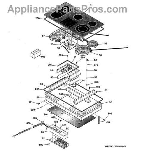ge cooktop parts ge wb62t10089 glass maintop appliancepartspros