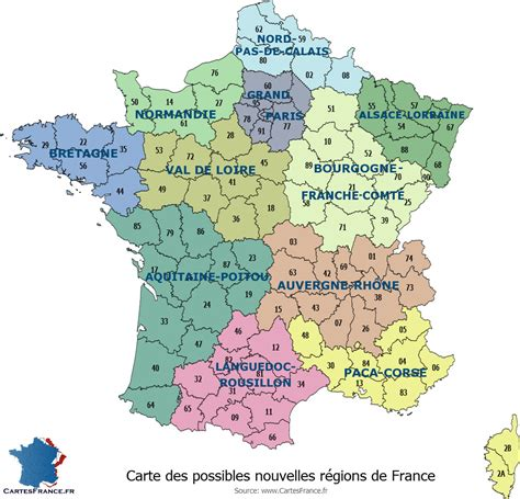 Nouvelle Carte De Region Et Departement by Carte Des Nouvelles R 233 Gions En 2017