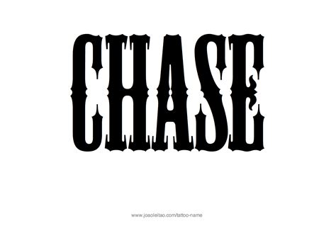 Chase Name Tattoo Designs