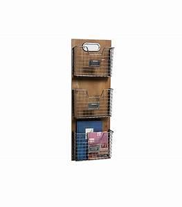 Porte Photo Mural Metal : porte revues mural bois et m tal fa on casiers ~ Teatrodelosmanantiales.com Idées de Décoration