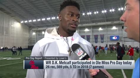 ole  wide receiver dk metcalf   cone drill