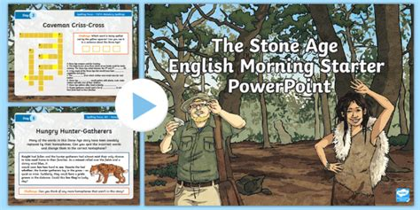 * New * Lks2 The Stone Age English Morning Starter Powerpoint Neolithic