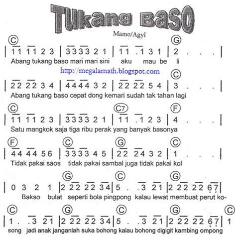 not angka lagu anak naik kereta api not angka lagu anak anak tukang bakso