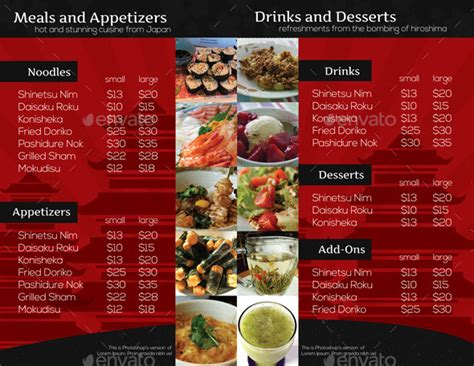 Restaurant Brochure Templates by 20 Cool Restaurant Brochure Templates