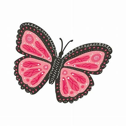 Papillon Rose Fille Enfant Stickers Rosa Farfalla