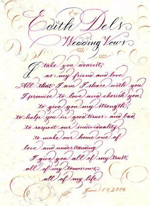 cute wedding vows   google search hand letter