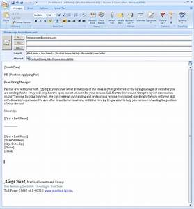 email cover letter format whitneyport dailycom With should i attach cover letter to email