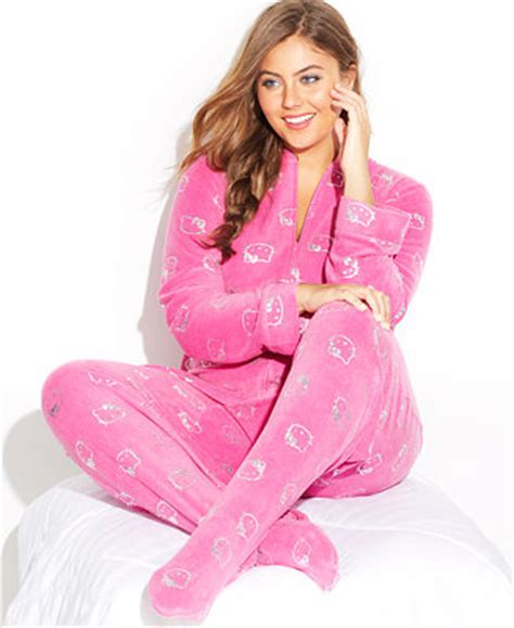 kitty  size sparkle type footed pajamas bras panties shapewear women macys